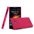 IMAK Ultrathin Matte Color Cover Hard Case for Sony L35h Xperia ZL - Rose (High transparent screen protector)