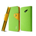 IMAK cross leather case Button holster holder cover for HUAWEI Ascend D2 - Green