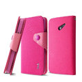 IMAK cross leather case Button holster holder cover for HUAWEI Ascend D2 - Rose