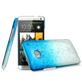 Imak Colorful raindrop Case Hard Cover for HTC One M7 801e - Gradient Blue (High transparent screen protector)