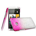 Imak Colorful raindrop Case Hard Cover for HTC One M7 801e - Gradient Rose (High transparent screen protector)