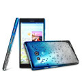 Imak Colorful raindrop Case Hard Cover for HUAWEI Ascend Mate X1 - Gradient Blue (High transparent screen protector)