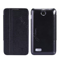 Nillkin Fresh leather Case Bracket Holster Cover Skin for Lenovo A590 - Black