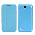 Nillkin Fresh leather Case Bracket Holster Cover Skin for Lenovo A590 - Blue