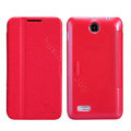 Nillkin Fresh leather Case Bracket Holster Cover Skin for Lenovo A590 - Red