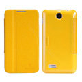Nillkin Fresh leather Case Bracket Holster Cover Skin for Lenovo A590 - Yellow