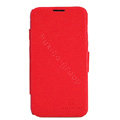 Nillkin Fresh leather Case Bracket Holster Cover Skin for Lenovo A820 - Red