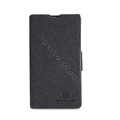 Nillkin Fresh leather Case Bracket Holster Cover Skin for Nokia Lumia 520 - Black