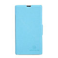 Nillkin Fresh leather Case Bracket Holster Cover Skin for Nokia Lumia 520 - Blue