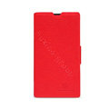Nillkin Fresh leather Case Bracket Holster Cover Skin for Nokia Lumia 520 - Red