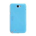 Nillkin Fresh leather Case Bracket Holster Cover Skin for Samsung N7100 GALAXY Note2 - Blue