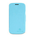 Nillkin Fresh leather Case Bracket Holster Cover Skin for Samsung S7572 - Blue