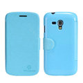 Nillkin Fresh leather Case Bracket Holster Cover Skin for Samsung i8262D GALAXY Dous - Blue