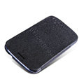 Nillkin Fresh leather Case Bracket Holster Cover Skin for Samsung i829 Galaxy Style Duos - Black