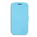 Nillkin Fresh leather Case Bracket Holster Cover Skin for Samsung i829 Galaxy Style Duos - Blue