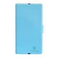 Nillkin Fresh leather Case Bracket Holster Cover Skin for Sony Ericsson L36i L36h Xperia Z - Blue