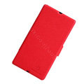 Nillkin Fresh leather Case Bracket Holster Cover Skin for Sony Ericsson L36i L36h Xperia Z - Red