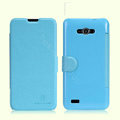 Nillkin Fresh leather Case Bracket Holster Cover Skin for ZTE N983 - Blue