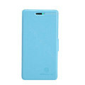 Nillkin Fresh leather Case button Holster Cover Skin for HUAWEI Ascend W1 - Blue