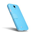 Nillkin Fresh leather Case button Holster Cover Skin for Samsung GALAXY S4 I9500 SIV - Blue