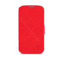 Nillkin Fresh leather Case button Holster Cover Skin for Samsung GALAXY S4 I9500 SIV - Red