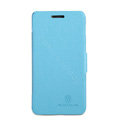 Nillkin Fresh leather Case button Holster Cover Skin for Samsung i8258 - Blue