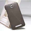 Nillkin Super Matte Hard Case Skin Cover for HTC E1 603e - Brown (High transparent screen protector)