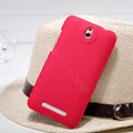 Nillkin Super Matte Hard Case Skin Cover for HTC E1 603e - Red (High transparent screen protector)