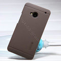 Nillkin Super Matte Hard Case Skin Cover for HTC One M7 801e - Brown (High transparent screen protector)