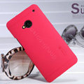 Nillkin Super Matte Hard Case Skin Cover for HTC One M7 801e - Red (High transparent screen protector)