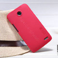 Nillkin Super Matte Hard Case Skin Cover for Lenovo A820 - Red (High transparent screen protector)