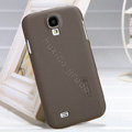 Nillkin Super Matte Hard Case Skin Cover for Samsung GALAXY S4 I9500 SIV - Brown (High transparent screen protector)