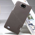 Nillkin Super Matte Hard Case Skin Cover for ZTE N5 Grand Memo - Brown (High transparent screen protector)