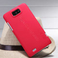 Nillkin Super Matte Hard Case Skin Cover for ZTE N5 Grand Memo - Red (High transparent screen protector)