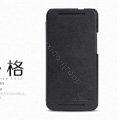 Nillkin leather Case Holster Cover Skin for HTC One M7 801e - Black (High transparent screen protector)