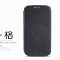 Nillkin leather Case Holster Cover Skin for Samsung GALAXY S4 I9500 SIV - Black (High transparent screen protector)