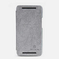 Nillkin leather Case Holster Cover Skin for The new HTC One M7 801e - Gray (High transparent screen protector)