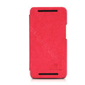 Nillkin leather Case Holster Cover Skin for The new HTC One M7 801e - Red (High transparent screen protector)
