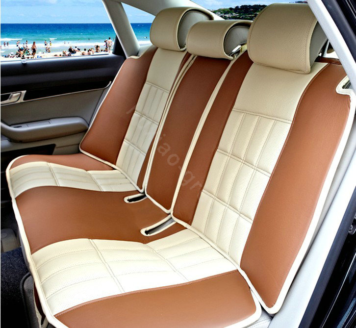 buy wholesale fortune custom auto car seat cover cushion set artificial leather beige coffee. Black Bedroom Furniture Sets. Home Design Ideas