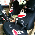 Paul Frank Universal Auto Car Seat Cover Set Short velvet 18pcs - Black