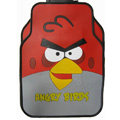 Angry Birds Universal Automobile Carpet Car Floor Mat Rubber Cartoon 5pcs Sets - Red
