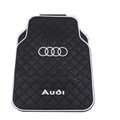 Audi Logo Universal Automobile Carpet Car Floor Mat Rubber 5pcs Sets - Black