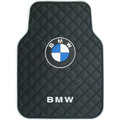 BMW Logo Universal Automobile Carpet Car Floor Mat Rubber 5pcs Sets - Black