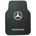 Benz Logo Universal Automobile Carpet Car Floor Mat Rubber 5pcs Sets - Black