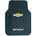 Chevrolet Logo Universal Automobile Carpet Car Floor Mat Rubber 5pcs Sets - Black