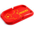 China Flag Automobile Non-Slip Mat Silicone Car Anti-Slip Mat Box Map - Red