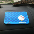 Doraemon Automobile Non-Slip Mat PVC Cartoon Car Anti-Slip Mat Squares - Blue