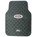 Ford Logo Universal Automobile Carpet Car Floor Mat Rubber 5pcs Sets - Black