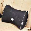 GIGI Auto Car Lumbar Pillows Synthetic Fiber Cotton Bow - Black