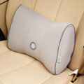 GIGI Auto Car Lumbar Pillows Synthetic Fiber Cotton Bow - Gray